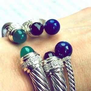 DY SS Lazu Lapis (Solaris) & Diamonds Bracelet